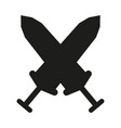 black and white cross broadswords silhouette vector image vector image