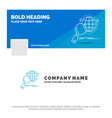 blue business logo template for global globe vector image