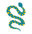blue snake with yellow spots icon isolated vector image vector image