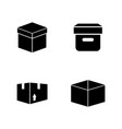 box simple related icons vector image