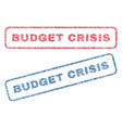 budget crisis textile stamps vector image vector image