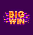 casino banner big win super star vector image vector image