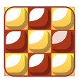 chess cake icon cartoon style vector image