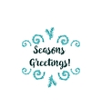 Christmas card on white background with blue vector image vector image