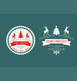 christmas design silhouette reindeer set vector image vector image