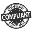 compliant sign or stamp vector image vector image