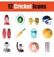 cricket icon set vector image
