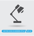 desk lamp icon simple sign for web site and vector image vector image