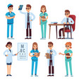 doctors team medical staff people doctor nurse vector image