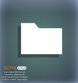 Document folder icon symbol on the blue-green vector image