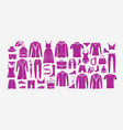 fashionable clothes set fashion collection vector image