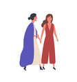 female friendship flat vector image