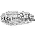 first date magic for women text background word vector image vector image