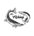 fishing fresh seafood template design vector image vector image