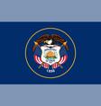 flag usa state utah vector image