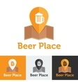 flat beer shop or bar logo set vector image