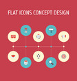 flat icons letter message audience and other vector image vector image