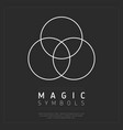 geometry magic symbol on gray vector image vector image