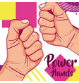 girl power memphis style vector image
