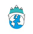 globe world ecology energy environment power vector image vector image