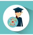 graduate student girl physics vector image vector image