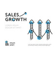growth sales in colorful template vector image