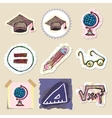 Hand drawn education emblems set Isolated vector image vector image