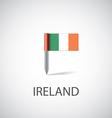 ireland flag pin vector image vector image