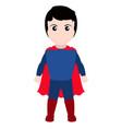 kid with a superhero costume halloween vector image