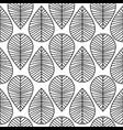 leaves seamless black white vector image vector image