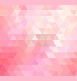 light pink polygonal template colorful vector image vector image