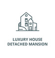 luxury housedetached mansion line icon vector image