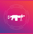 machine gun automatic firearm icon vector image vector image