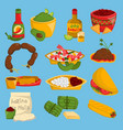 mexican traditional food cuisine meat vector image vector image