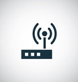 modem icon vector image vector image