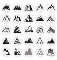 mountain icons set on circles background for vector image