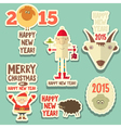 new year sticker vector image vector image