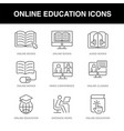 online education icons set with an editable stroke vector image
