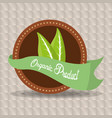 organic food fresh nutrition emblem vector image vector image
