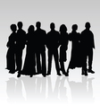 people black silhouette vector image vector image
