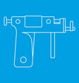 piercing gun icon outline vector image vector image