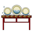 Plates at the China shop vector image