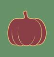 pumpkin sign cordovan icon and mellow vector image