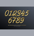 realistic 3d lettering numbers isolated on black vector image vector image