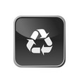 recycling icon on a square button vector image