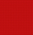 red plastic construction block plate seamless vector image vector image