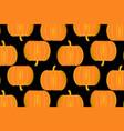 ripe pumpkin on a black background vector image vector image