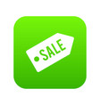 sale icon digital green vector image vector image