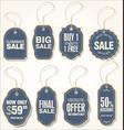 sale labels set 4 vector image vector image
