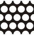 Seamless dark pattern with big white polka dots vector image vector image
